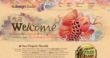 Ndesign-studio - известный блог о дизайне, который ведет Ник Ла из Торонто, Канада