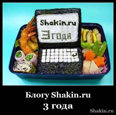 Блогу Shakin.ru - 3 года