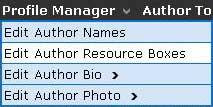 Profile Manager - Edit Author Resource Box