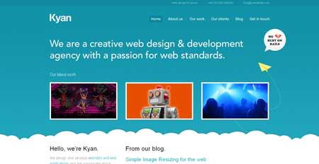 Kyanmedia - минималистичный сайт дизайн-студии