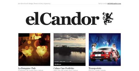Elcandor.com.ar - пример аргентинского минимализма в веб-дизайне