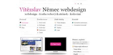 Vitecwebdesign - портфолио чешского веб-дизайнера Витеслава Немеца