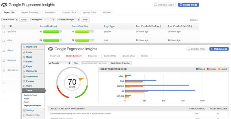 Google Pagespeed Insights плагин WordPress