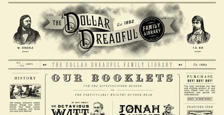Dollardreadful.com - один из самых стильных сайтов в стиле ретро