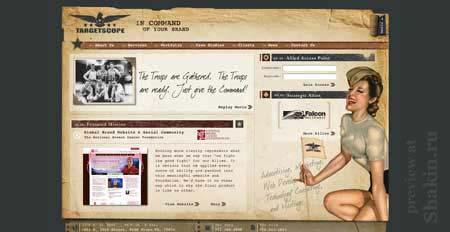 Targetscope.com - просто шикарный сайт в ретро стиле