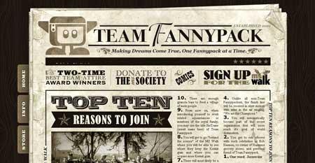 Teamfannypack - ретро сайт любителей ходьбы из Солт Лейк Сити, штат Юта