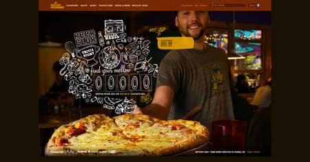 Mellowmushroom.com - красивый сайт ресторана из Атланты, Джорджия