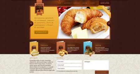 Arteegusto.it - стильный сайт итальянского ресторана