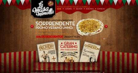 Lamasamimatta - интересный сайт ресторана из Аргентины со стильным дизайном