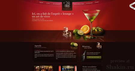 Le28thiers.fr - очень красивый сайт ресторана из Франции