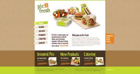 Picfresh.com.au -пример австралийского подхода к веб-дизайну