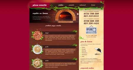 Pizza-venetia.ro - эффектный сайт пицца-ресторана из Румынии