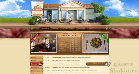 Villagerkent.com - этот сайт ресторана из Коннектикута очень красив и лаконичен
