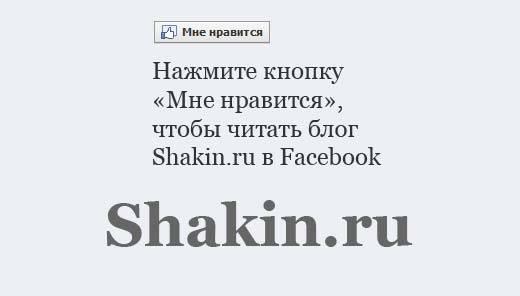 shakin.ru в facebook