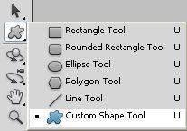photoshop custom shape tool фигуры из набора