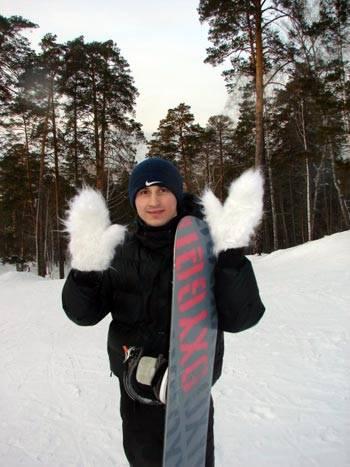 Александр Овсянников зимой