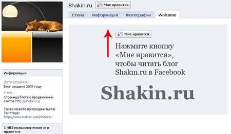 страница shakin.ru в Facebook