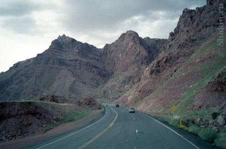 Горный перевал в Калифорнии