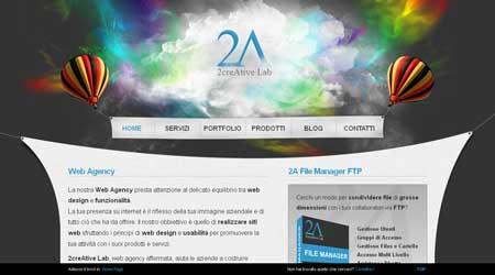 2creativelab.com - пример итальянского креатива в веб-дизайне