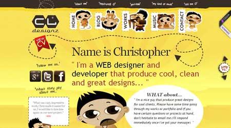 Cldesignz.com - еще один пример красивого веб-дизайна