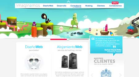 Imaginamos.com - пример красивого веб-дизайна из Аргентины