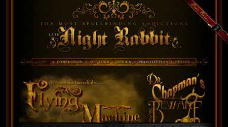 Latenightrabbit.com - мне очень нравится подобный стиль в веб-дизайне