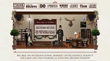Thinkconservatory.com - удачный пример использования ретро стиля в веб-дизайне
