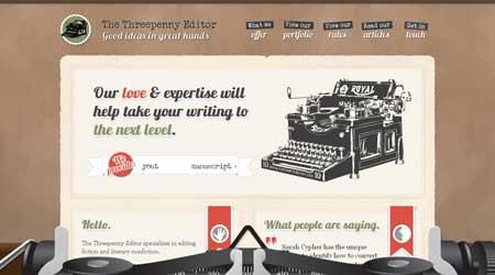 Threepennyeditor.com - еще один пример красивого ретро в веб-дизайне