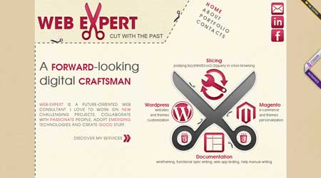 Web-expert.it - интересно оформленное онлайн портфолио