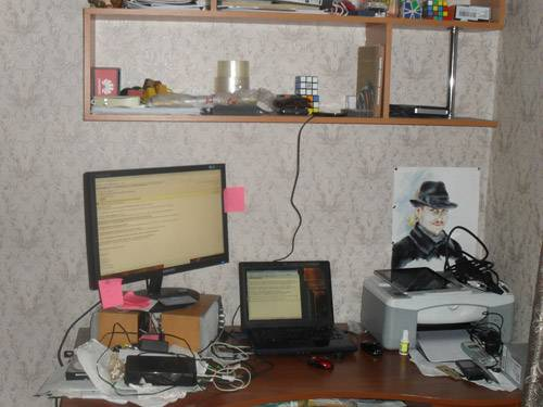 Сергей Кокшаров - рабочее место дома