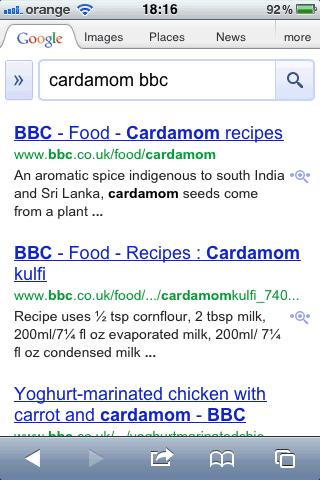 результаты мобильного поиска Google сейчас