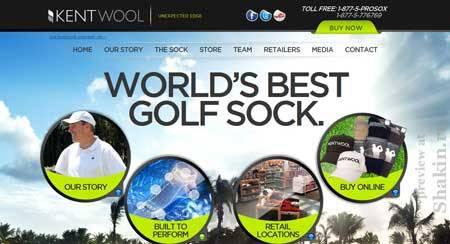 Kentwoolsocks.com - эффектный дизайн сайта американской компании