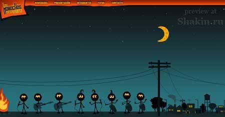 Losmorochos.com.ar - пример аргентинского веб-дизайна
