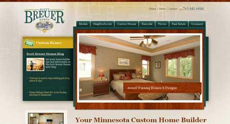 Scottbreuerhomes.com - сайт агентства недвижимости из Миннесоты