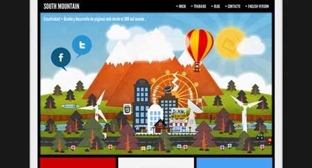 Southmountain.com.ar - стильный дизайн сайта креативной студии из Аргентины