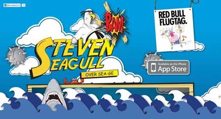 Stevenseagull.net - красивый сайт разработчиков игр для iPhone и iPad