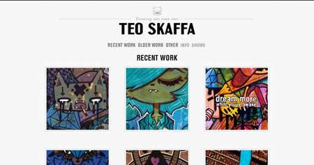 Teoskaffa.com - стильный сайт со своеобразным дизайном