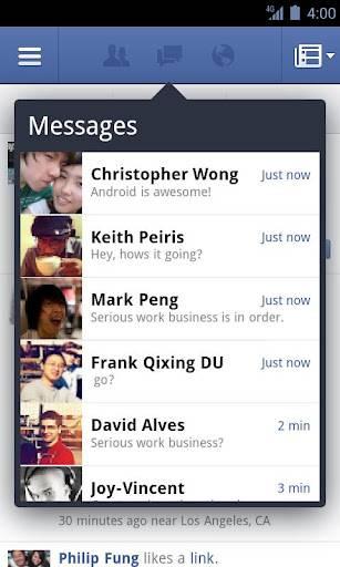 Facebook приложение для Андроид