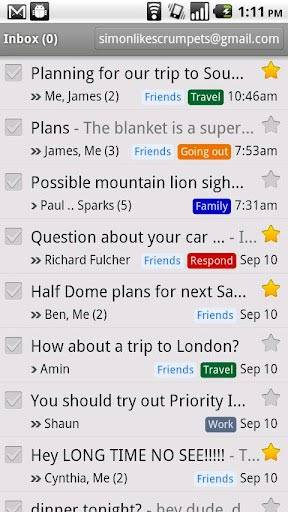 Gmail приложение Android