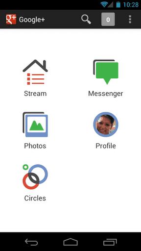Приложение Google+ для Андроид