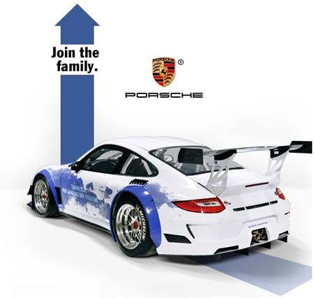 Страница Porsche в Facebook