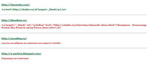 Проверка наличия ссылок сервисом Mainspy.ru