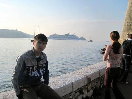 Александр Борисов на море