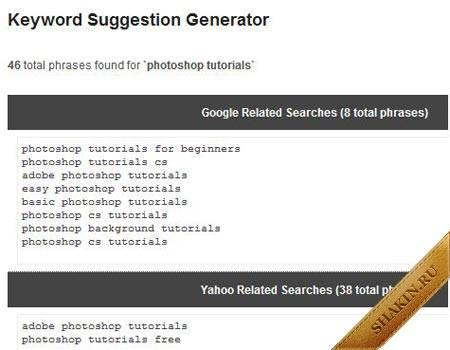 Getrank генератор поисковых запросов