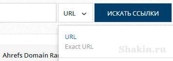 """ahrefs опция """"URL"""" для проверки внешних ссылок на заданную страницу"""