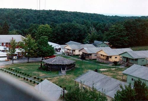Общий вид лагеря с высоты