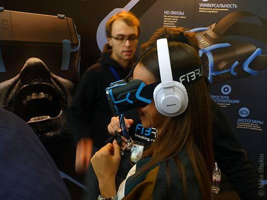 очки Фибрум с прикрепленным смартфоном