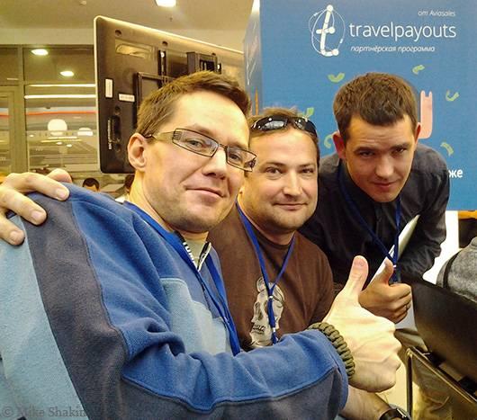 Совместное фото с Дмитрием Шаховым и Алексеем Тереховым
