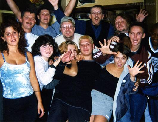 Групповое фото сотрудников кухни нашего лагеря Camp Catskill