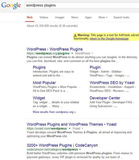 выдача в инструменте предпросмотра объявлений google adwords
